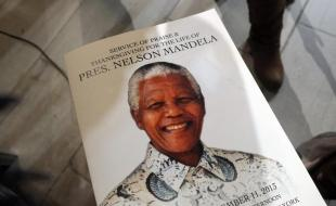 Program for Nelson Mandela's Commemorative Memorial Service in New York, U.S.A., December 11, 2013. Photo by MediaPunch/REX.