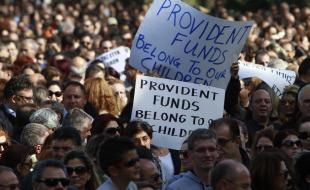 Cyprus anti-bailout protests.