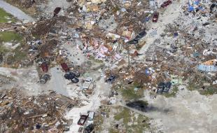 The aftermath of Hurricane Dorian is seen on the island of Abaco in the Bahamas in this photo taken by the Dutch Defense Ministry on September 11, 2019. (Sjoerd Hilckmann/Dutch Defense Ministry via AP)