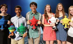 Left to right: 2014 Google Science Fair winners Hayley, Mihir, Kenneth, Ciara, Sophie and Émer. (Photo courtesy of Google.)