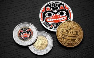 Bill Reid toonie. (Royal Canadian Mint.)