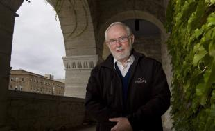 Arthur McDonald, a professor at Queen's University, is shown at the university in Kingston, Ontario on October 6, 2015. Professor McDonald is a co-winner of the 2015 Nobel Prize in Physics for his work on tiny particles known as neutrinos. (THE CANADIAN PRESS/Fred Chartrand.)