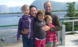 The Leblanc family. (Photo courtesy Robin LeBlanc.)